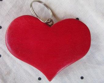 Wood heart keychain valentine's day gift