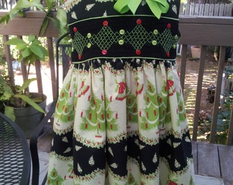 Heirloom Hand Smocked Christmas Dress