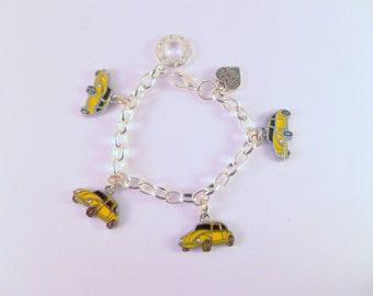 VW Beetle Charm Bracelet