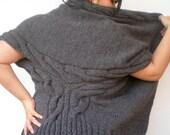 Grey Swallow Oversized Shrug Hand Knit  Bolero  Woman Trendy Big Shrug Fall Woman Winterr NEW