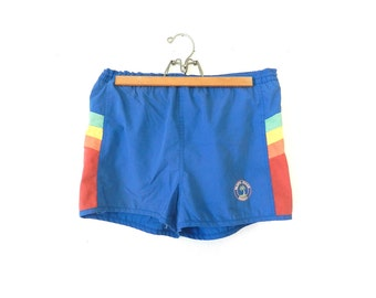 80's MEN'S SWIM SHORTS - Rainbow Design / Short-Shorts ...