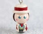 Doctor Who charm Seventh Doctor chibi Necklace, cell phone charm