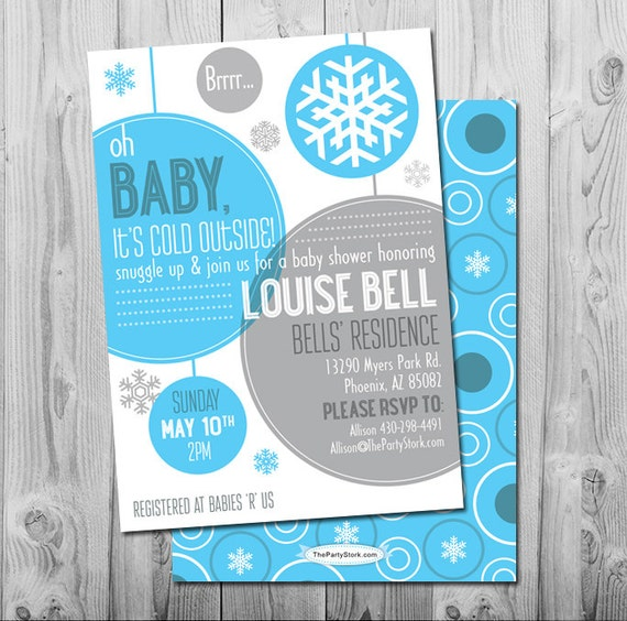 winter baby shower invitation printable baby it 39 s cold outside party