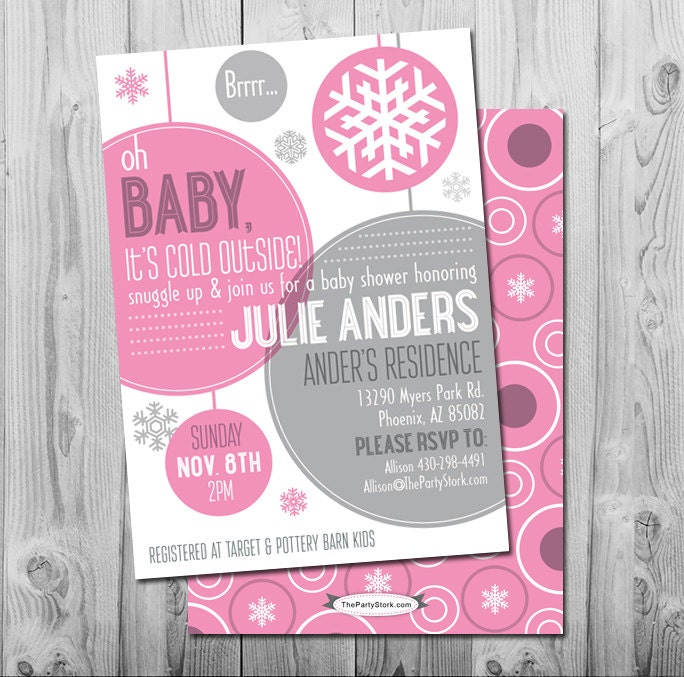 winter baby shower invitation printable baby it 39 s cold