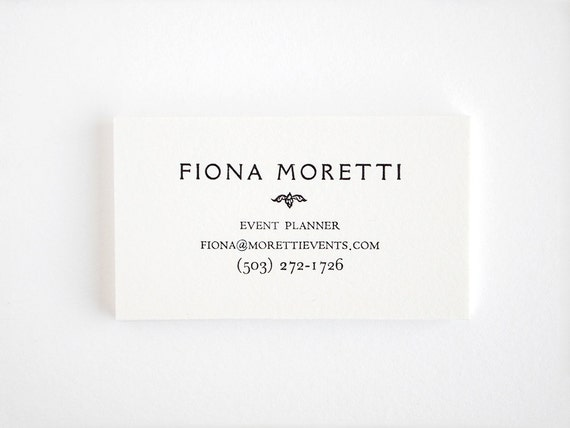 Elegant Letterpress Business Cards - Personalized Vintage Style - Rialto