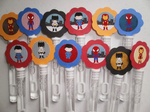 Super hero party favor mini bubble wands super by for Mini bubble wands