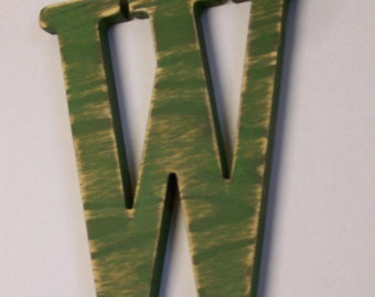 12-inch Distressed Wood Letter W Choice of Letter and Color!