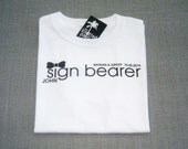 Sign Bearer Black Bow Tie Wedding T-Shirt