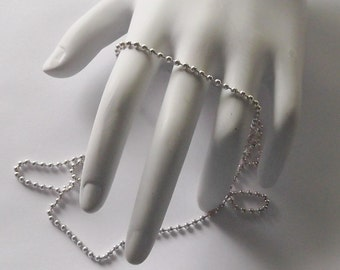 Sterling Silver, 2mm Bead Chain, 16, 18 or 20-Inches