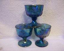 Carnival Glass Sherberts Set of 4