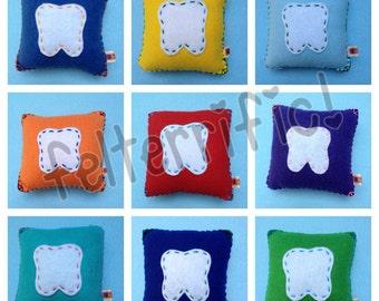 Handmade Felt Tooth Fairy Pillow Boy or Girl