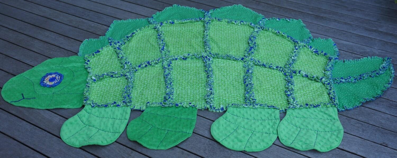 Dinosaur Rag Quilt Childs Comfy Rag Quilt Keepsake Quilt