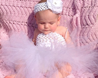 Angels Collection Tutu Set in White sizes New Born to 12 Months