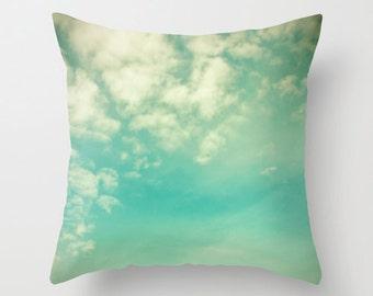 SALE, Pillow cover, turquoise pillow, mint pillow, aqua pillow, green turquoise, couch pillow, cloud pillow, sky pillow, sofa pillows