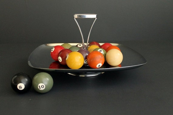 Retro Vintage Chrome Serving Butler Tray by Milbern