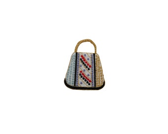 ID #7808 Multicolor Handbag Purse Fashion Iron On Embroidered Patch Applique