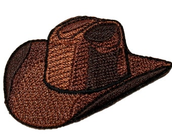 ID #1346 Cowboy Hat Old Western Rodeo Ranch Embroidered Iron On Applique Patch