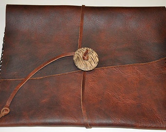 """IPAD/TABLET COVER 12 1/4"""" x 9 1/2"""" Bison Leather Handstiched - Handmade"""
