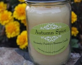 Autumn Spice scented Beeswax Candle