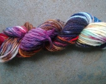 Handspun Yarn: 3 Ply in Brights