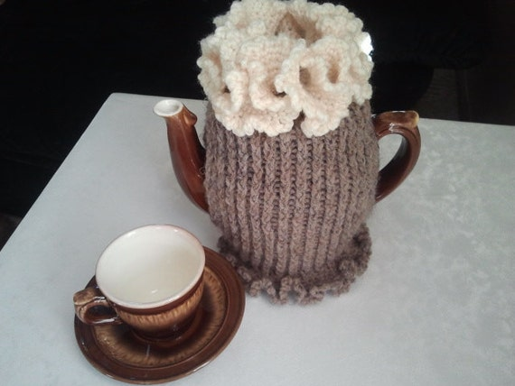 Coffee Pot Cosy Knitting Pattern : Items similar to Coffee Pot Cozy.Knitted Cozy.Pot Warmer.Coffee Pot Cozies. C...