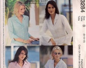 McCall's Sewing Pattern 3284 - Misses' Shirts (8-12)