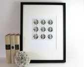 Origami Sketch No1 Silver Paper Collage - Geometric Circles - Modern Op Art - Minimalist Art - Grey Home Decor - Original Art - Origami Art