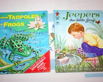 From Tadpoles to Frogs and Jeepers- 2 Rand McNally Books