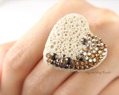 Volcano Stone Rings - Heart or Star Every piece is different