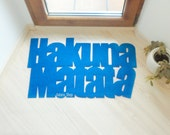 Hakuna Matata floor mat. The Lion King. Custom door mat, cool and modern.