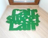 "Design door mat ""Lair sweet lair"". Personalized rug."