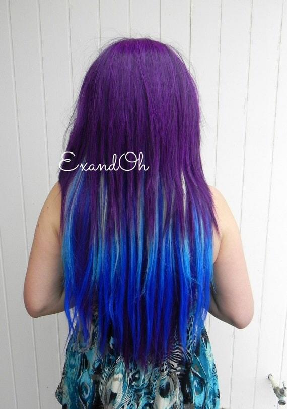 Plum purple hair dye