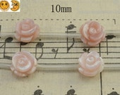 10 pcs of natural MOP,Mother of pearl pink shell carved rose bead,shell bead,button bead,natural shell bead,sea shell bead,pedant beads 10mm