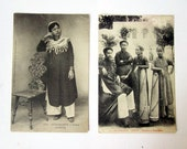 RESERVED S. 2 vintage postcards- Cochinchine - Indo Chine Photos - 1930