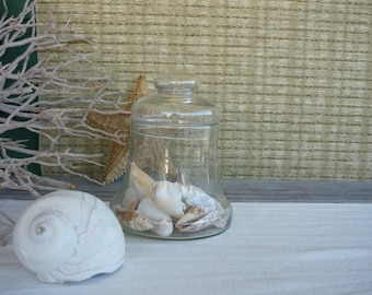 Vintage Apothecary Jar, Glass Display Jars, Cottage Decor, Shabby Chic