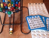 Bingo Cage with Caller Board and Bingo Cards