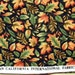 Hoffman California Fabric autumn fall leaves on black background
