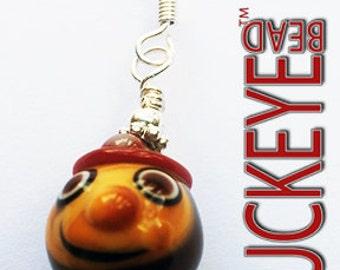Glass Brutus The Buckeye Bead Dangle Earrings Ohio State Buckeye Jewelry OSU Go Bucks!