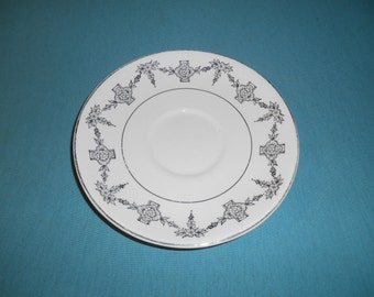One (1), Tea Cup Saucer, from Taylor, Smith & Taylor, in the 1825 Pattern.