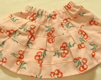 "Adorable Cherries on Pink Prairie Skirt for 18"" Doll"