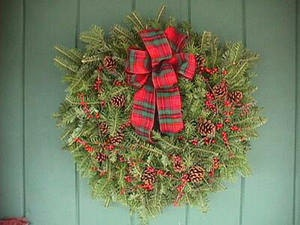 """24"""" WREATHS! SHIPPED - Christmas Wreath Fundraiser To Benefit The Bunnies At Cottontail Cottage Rabbit Shelter"""