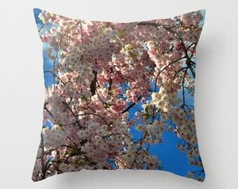 Cherry blossom pillow cover