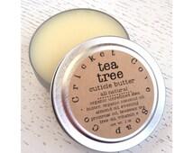 CUTICLE BUTTER  - Tea Tree Cuticle Butter - 1oz Cuticle Cream - All Natural - Reusable Tin