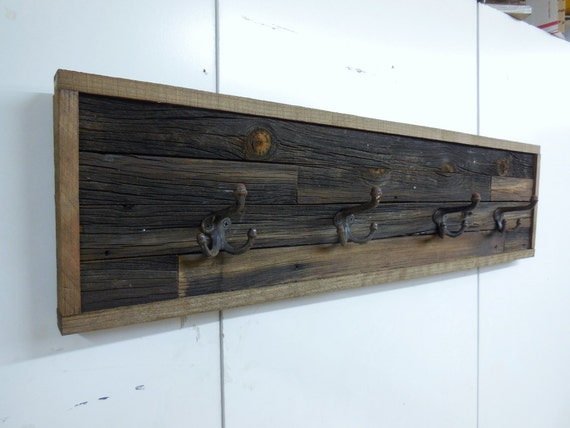Barn wood coat rack rustic barn wood coat rack by lynxcreekdesigns - Adding character to your hallway with a hall tree ...