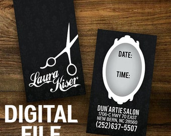 Custom Hair Stylist Business Cards - DIGITAL FILE DOWNLOAD