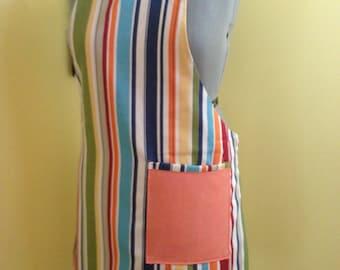 kitchen Apron---multi color denim reversible apron