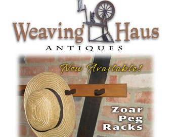 Zoar Peg Rack made out of wood from Weaving Haus - circa 1820's