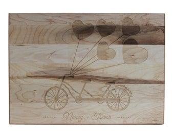 Personalized Cutting Board Wedding Gift Cutting Board 10x14 Maple Custom Laser Engraved