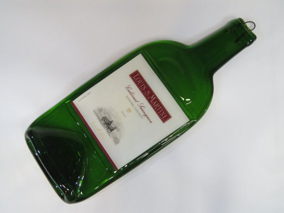 Wine Bottle Cheese Platter Louis Martini Cabernet Spoon Rest
