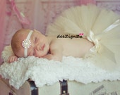 Girls Hair Accessories-Baptism Headband-White-Ivory-Pearl-Rhinestone-Headband- Christening-Wedding-Bridesmaid-Flower Girl Headband